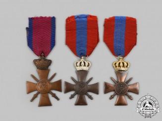 Greece, Kingdom. Three War Crosses 1940, Type I