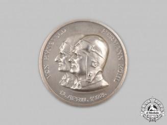 Germany, Weimar Republic. A 1928 Transatlantic Flight Commemorative Silver Medallion, by the Vienna Mint