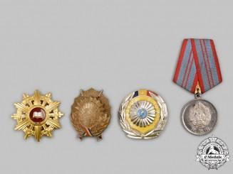 Romania, People's Republic, Socialist Republic. Four Decorations & Awards