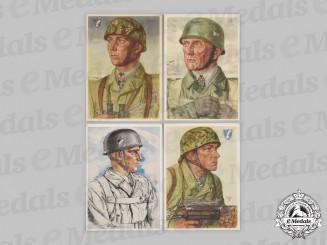 Germany, Wehrmacht. A Lot of Fallschirmjäger Knight's Cross Recipient Postcards
