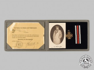 Germany, Imperial. A Unique First World War Veteran's Award Presentation Set to August Bock