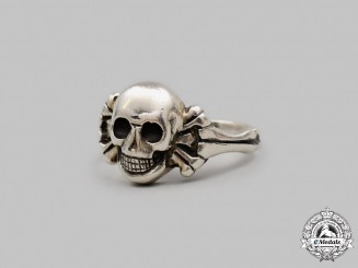 Germany, Weimar Republic. A Silver Totenkopf Ring, Possible Freikorps Connection