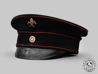 Germany, Weimar Republic. A Fire Brigade Personnel Visor Cap
