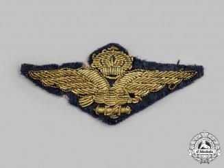 Italy, Kingdom. A Royal Air Force (Regia Aeronautica Italiana) Bullion Pilot Badge, c.1942