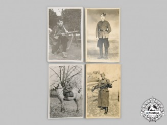 Yugoslavia, Serbia. Four Second War Chetnik Photographs