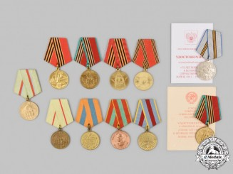 Russia, Soviet Union, Federation. Eleven Medals & Awards