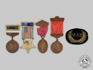 United States. A Lot of Six Grand Army of the Republic (GAR) Items