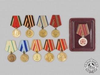 Russia, Soviet Union, Federation. Ten Medals & Awards
