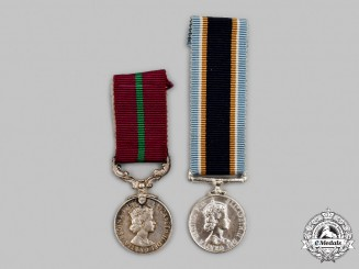 United Kingdom. Two Miniature Long Service and Good Conduct Medals