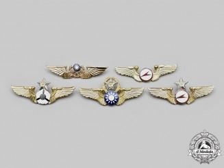 China, Republic (Taiwan). Five Republic of China Air Force and Army Badges
