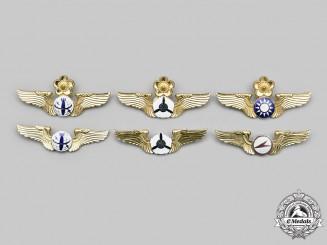 China, Republic (Taiwan). Six Republic of China Air Force and Army Badges