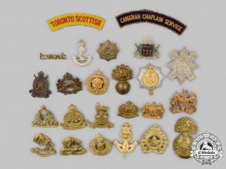 Canada, United Kingdom. Twenty-Four Military Uniform Insignia