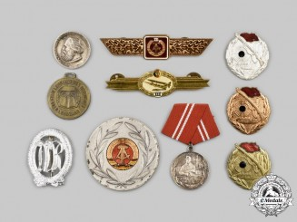 Germany, Democratic Republic. A Lot of Badges and Insignia