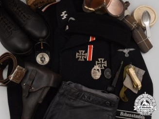 Germany, SS. The Uniform, Accessories, and Decorations of an Unterscharführer of the 9th SS Panzer Division Hohenstaufen