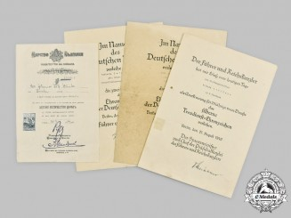 Germany, Third Reich. A Mixed Lot of Civil Award Documents
