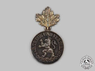 Schwarzburg-Rudolstadt, Principality. An Honour Medal in Silver, with 1914/15 Clasp