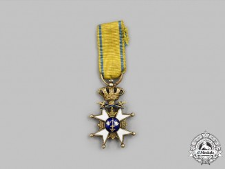 Sweden, Kingdom. An Order of the Sword in Gold, Miniature