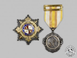Spain, Fascist State. Two Military Awards & Decorations