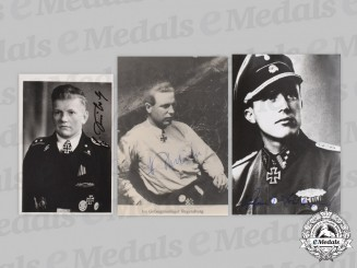 Germany, SS. A Lot of Postwar Signed Photos of Knight's Cross Recipients