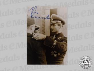 Germany, SS. A Postwar Signed Photo of SS-Obersturmbannführer Max Wünsche
