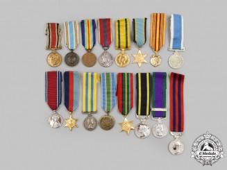 United Kingdom, United Nations. A Lot of Sixteen Miniature Awards