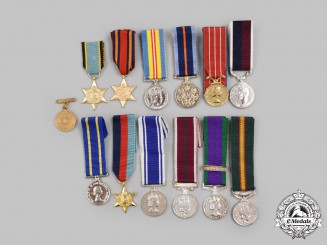 United Kingdom, Canada. A Lot of Thirteen Miniature Awards