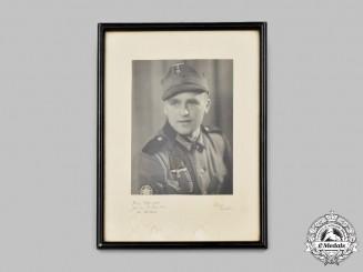 Germany, Heer. A Framed Wartime Portrait of a Gebirgsjäger KIA at the Second Battle of Kharkov
