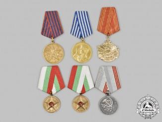 Bulgaria, People's Republic; Russia, Soviet Union; Yugoslavia, Socialist Federal Republic. A Lot of Six Socialist Awards