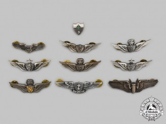 United States. A Lot of Nine Air Force and Army Badges