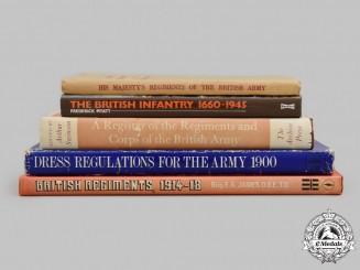United Kingdom. Five British Army Books