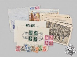 Germany, Third Reich. A Lot of Postcards and Stamps