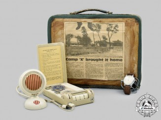 Canada, Commonwealth. A Cold War Camp X Minifon P55 Spy Kit