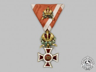 Austria, Empire. An Order of Leopold, Knight's Cross with Small Commander Decoration, by Rotzet & Fischmeister, c.1918