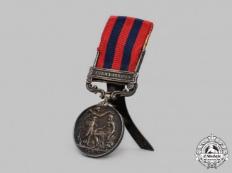 United Kingdom. An India General Service Medal 1854-1895, 2nd Battalion, Cheshire Regiment