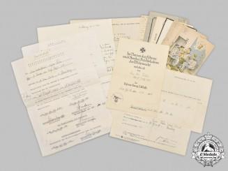 Germany, Heer. A Collection of Documents to Army Medic NCO Egon Kühn (EK2, KIA)