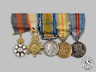 United Kingdom. A Gold KCMG Miniature Group, Honourable Colonel Sir Thomas Berry Cusack-Smith