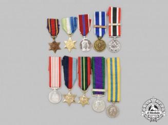 United Kingdom, Canada, NATO, United Nations. A Lot of Ten Miniature Awards