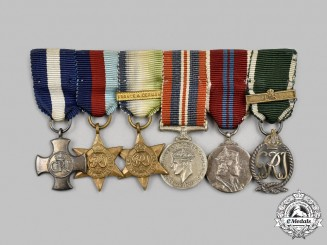 United Kingdom. A DSC Miniature Group Captain George Victor Legassick, Royal Naval Reserve