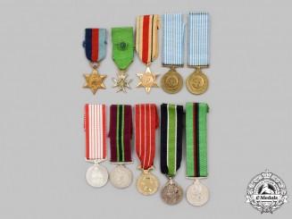 United Kingdom, Canada, New Zealand, United Nations, International. A Lot of Ten Miniature Awards