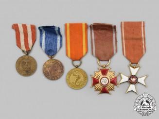 Poland, Republic, People's Republic. A Lot of Five Awards