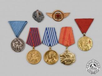 Yugoslavia, Socialist Federal Republic. A Lot of Seven Medals and Badges
