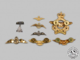 Canada. A Lot of Eight Royal Canadian Air Force (RCAF) Badges