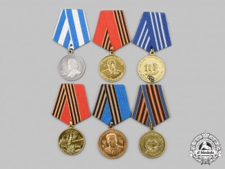Russia, Federation. Belarus, Ukraine. A Lot of Six Medals