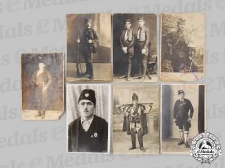 Yugoslavia, Serbia. Seven Chetnik Photographs