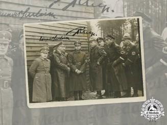 Germany, Third Reich. A Rudolf Hess and Konrad Henlein Signed Press Photo