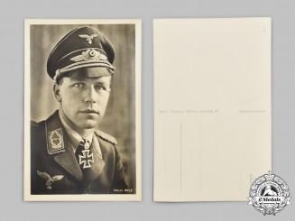 Germany, Luftwaffe. A Major Helmut Wick Wartime Postcard