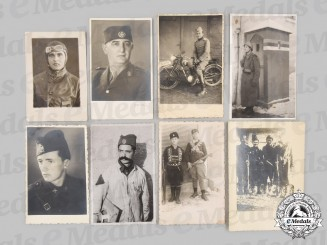 Yugoslavia, Serbia. Eight Chetnik Photographs