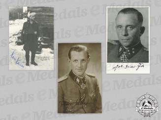 Germany, SS. A Lot of Postwar Signed Photos of Waffen-SS Knight's Cross Winners