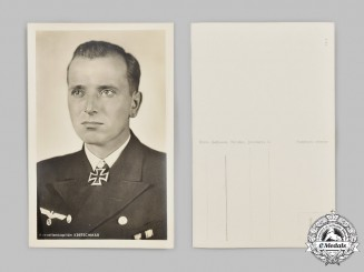 Germany, Kriegsmarine. A Korvettenkapitän Otto Kretschmer Wartime Postcard
