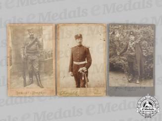 Yugoslavia, Serbia. Three Chetnik Portrait Photographs